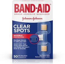 BAND-AID Clear Spots Bandages 50 ea (Pack of 2)