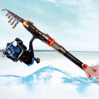 NEW Ultralight Telescopic Spinning Reel Rod Sea Fishing Pole Travel Carbon Fiber