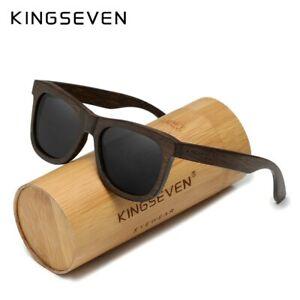 KINGSEVEN 2021 Natural Handmade Sandalwood Polarized Mirror Lens Male Sunglasses