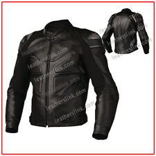 Men New Biker Motorcycle Motorbike Racing Leather Jacket MJK-123(US 44,46,48)