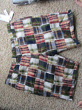 NEW GEOFFREY BEENE PLAID REVERSIBLE SHORTS MENS 42 REVERSES TO GREEN FREE SHIP