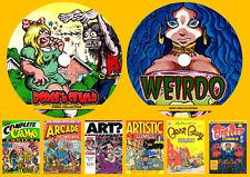 Weirdo & Robert Crumb Comics On Two DVD Rom's