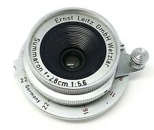 LEICA SUMMARON 28MM 5.6 (LTM) LENS - 1957 - RED NUMBERS - WITH LEICA M ADAPTER