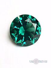 Emerald Bluish Green #117 Round 9 mm. 2,7 ct. SIAMITE Created Gemstone US@GEMS