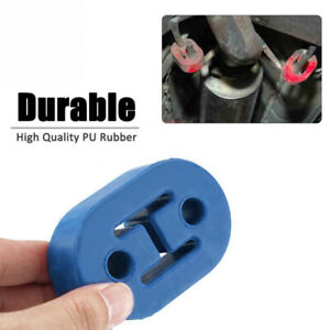 Heavy Duty Rubber Exhaust Tail Pipe Mount Bracket Hanger Bushing Insulator BLUE