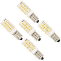 5X E12 Fassung LED Lampe 5W,mit 44 SMD 2835,Warmweiß 3000K,360 Abstrahlwinkel