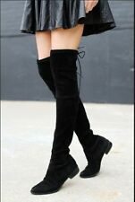 WOMEN'S OVER THE KNEE THIGH HIGH FLAT BOOTS