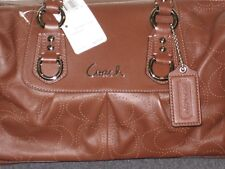 COACH Ashley Perforated Leather Satchel Handbag #17130 - NEW