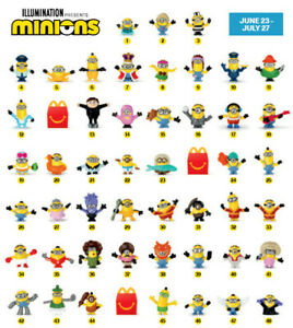 MINIONS 2 (2020) MCDONALDS TOYS - BUY 3 GET A MYSTERY MINION FREE!