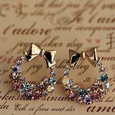 1Pair Women Lady Elegant Crystal Rhinestone Fashion Ear Stud Earrings Pendant