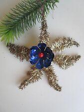 Antique Rare 6 Branch Tinsel & Foil Rosette Christmas Ornament/Deco