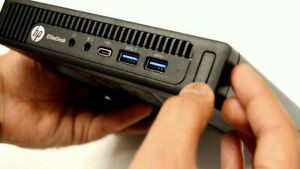HP elitedesk 800 G2 Mini Tiny PC COMPUTER i5 2.5Ghz 8Gb 500GB SSHD USB-C DP WIFI