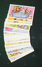 1977 Disney Trading Cards Geo. Bassett & Co. Complete 50 Card Set Mint Condition