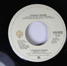 Soul 45 Chaka Khan - Lover'S Touch / What Cha' Gonna Do For Me On Warner Bros.