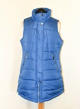 Centigrade Sky Blue Gilet Quilted Long Size S (up to 14) see sizing - Brand New