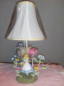 Disney Alice in Wonderland electric lamp flower garden 3D NIB rare vintage