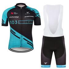2020 Mens Team Cycling Jersey Bib Shorts Kits Bicycle Tops Short Sleeve Set Pad