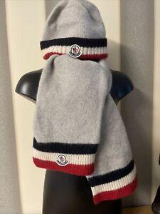 Kinder Woll Mütze und Woll Schal von Moncler Gr S- XS  Gr Ca 86 92