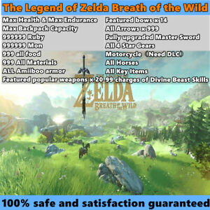 The Legend of Zelda:Breath of the Wild Switch Mod Save Edit, Game not Included