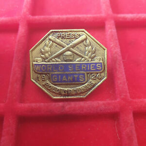 1924 World Series San Fransisco Giants Press Pin