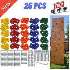 25X Textured Climbing Holds Set Rock Wall Stones Hand Feet Kid Gift Assorted Kit