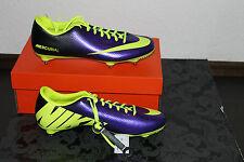 Nike Mercurial Victory Fußball Stollenschuh Lila Gelb Größe 42,5; UK 8; US 9 Neu