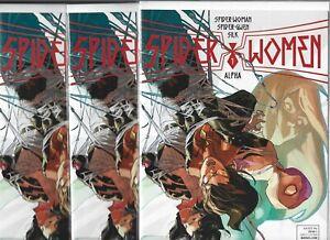 Spider-Women Alpha #1  Lot of 3 (June 2016, Marvel Comics)