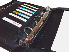 New,Zippered,Padfolio Organizer, Business Card Slots, Jr Legal Pad, Black