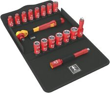 """Wera Tool Ratchet Socket Electricians Insulated VDE 3/8"""" Drive Metric 17 Pieces"""