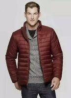 Men's Fullzip Lightweight Puffer Jacket - Goodfellow & Co Burgundy Size Small