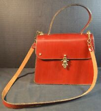 Vintage Etienne Aigner Leather Bag with COA Antic Red Oxblood