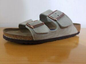 NEW Birkenstock Arizona Soft Footbed Taupe Suede Leather Sandal -  Choose Size