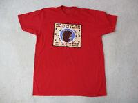 Bob Dylan Concert Shirt Adult Large Red Rock Band Music Tour Rocker Mens *