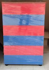 Settimino da camera  stanzetta mobile cassetti blu e rosso cassa ciliegio
