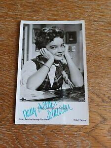 """Romy Schneider Orginal-Autogramm, unterschrieben mit """"Romy Albach-Schneider"""""""