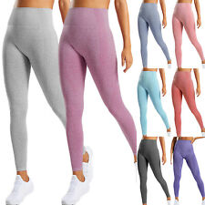 Women's High Waist Yoga Leggings Seamless Fitness Sports Soft Run Pants Trousers
