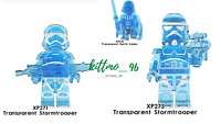 The Mandalorian And Transparent Stormtrooper Minifigure Star War Lego MOC