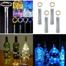 Wine Bottle Fairy String Lights LED Battery Cork Shape For Party Summer Wedding
