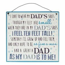 Fathers Day Gift DAD MEDIUM  PLAQUE SIGN NEW FATHERS DAY GIFT LOVE DADDY PRESENT