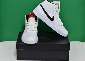 Nike Air Jordan 1 Mid OG Yin Yang 1 555088-102 White Black Mens Size 11