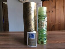 Isle of Wight studio glass vase Golden Ffleur Green signed Timothy Harris 2009