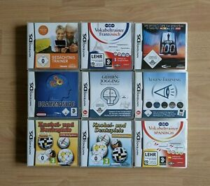 Nintendo DS Spielepaket 9 Spiele Gehirn-Jogging Gedächtnistrainer Denkspiele