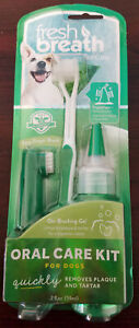 TROPICLEAN Fresh Breath Oral Care Kit Medium Large Dog Canine Gel Tooth Brush