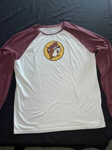 BUC-EE'S Official Beaver Gas Station Convenience Store Raglan T-Shirt Size XL