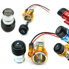 12V Vehicle Motorcycle Car Cigarette Lighter Plug Aux Outlet Socket With LED