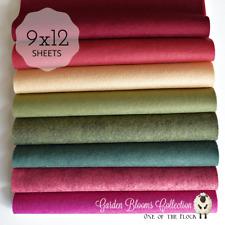 """NEW GARDEN BLOOMS Felt Collection, Merino Wool Blend Felt, 8- 9"""" X 12"""" Sheets"""