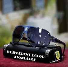 New Men's Vintage Khan Aviator Sunglasses Sports Driving Fashion Royal Blue