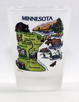 MINNESOTA MAP FROSTED SHOT GLASS SHOTGLASS