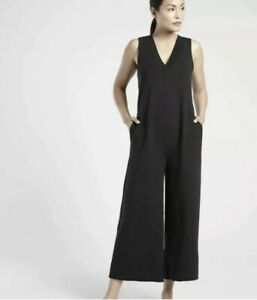 New With Tags Athleta serenity jumpsuit Black ##* Small petite