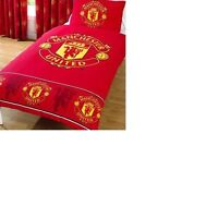 MANCHESTER UNITED CREST NOT QUITE PERFECT 50/50 SINGLE  DUVET SET  /  QUILT SET